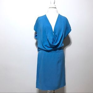 DVF silk dress sz 10